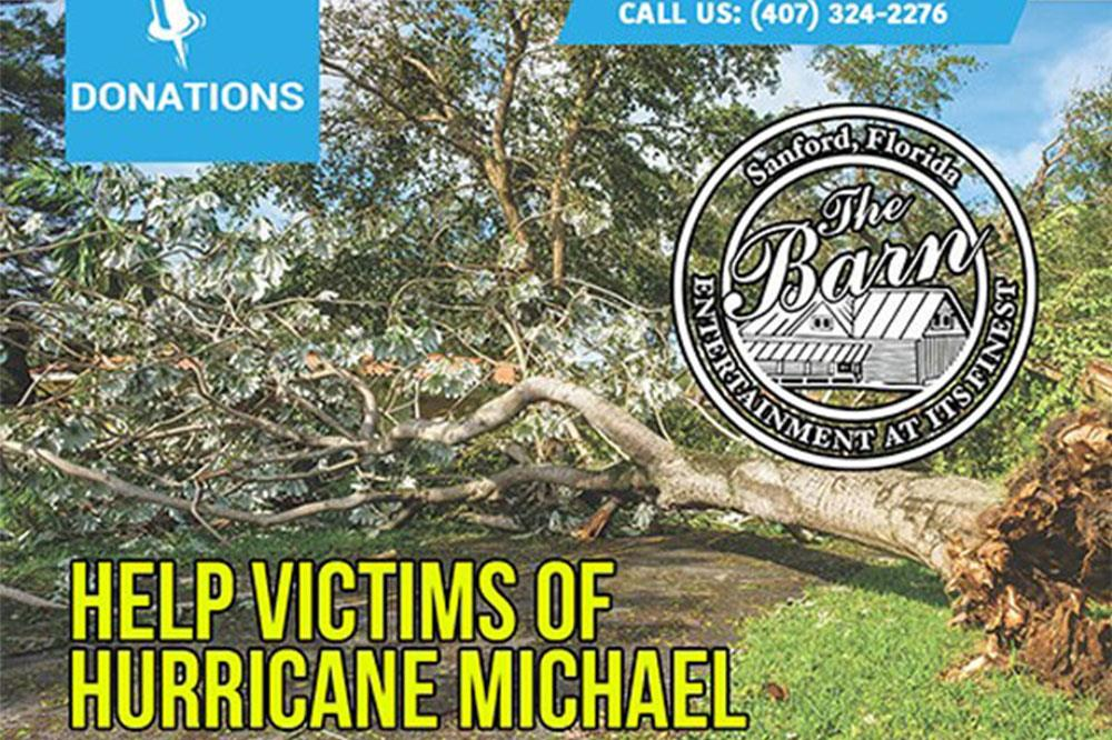 The Barn's Hurricane Michael Charity Coming Together to Help the Victims of Hurricane Michael